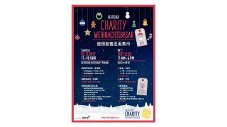 Ankündigungsplakat  Deutscher Charity Weihnachtsbasar